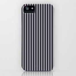 Lilac Gray and Black Stripes iPhone Case