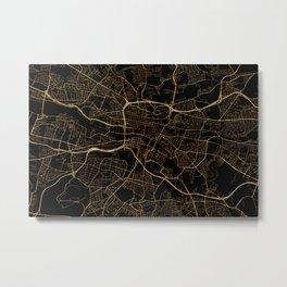 Glasgow map, Scotland Metal Print