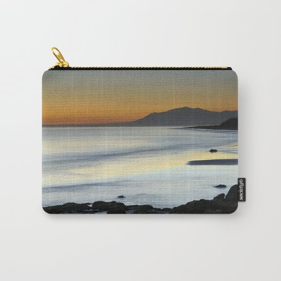 """""""Serenity beach"""". Orange sunset Carry-All Pouch"""