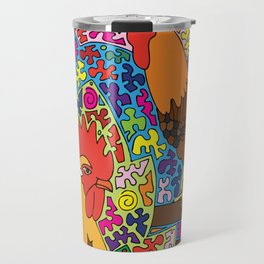Happy Birds - Chicken and Rooster Travel Mug