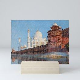 Edwin Lord Weeks - View of Taj Mahal Mini Art Print