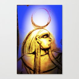 Hatshepsut Royal Blue Canvas Print