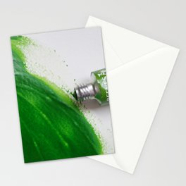 Painting Green #4 Stationery Cards