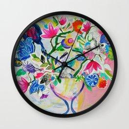 My Island Bloom Wall Clock