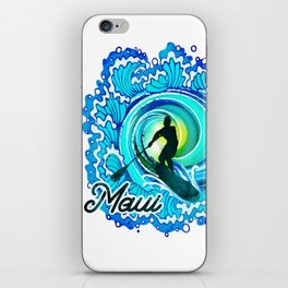 Sup paddle Boarder Beautiful Ocean Blue SPLASH iPhone Skin