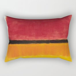 1949 Untitled (Violet, Black, Orange, Yellow on White and Red) by Mark Rothko Rectangular Pillow