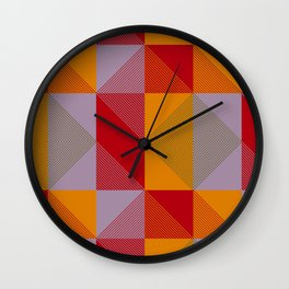 Man at Arms Plaid Wall Clock