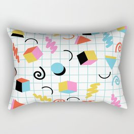Clutch - memphis 80s style retro throwback cubes geometric triangles 1980's pattern Rectangular Pillow
