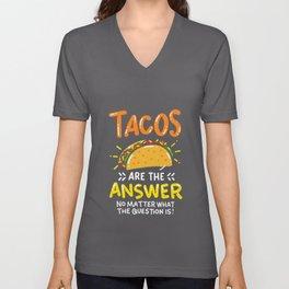 Tacos Lovers Shirt Mexican Burrito  Unisex V-Neck