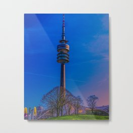 Olympic Tower Munich Metal Print
