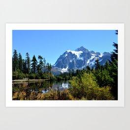 Mount Shuksan between the Trees Art Print