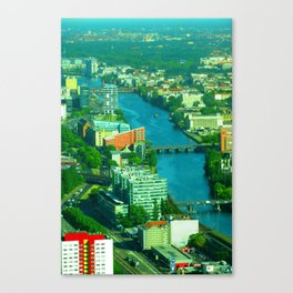 Looking down from the Fernsehturm Canvas Print