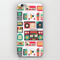 technology iPhone & iPod Skins featuring Retro Technology 1.0 by Ralph Cifra