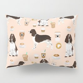 English Springer Spaniel coffee lover dog breed pet portraits custom dog gifts Pillow Sham