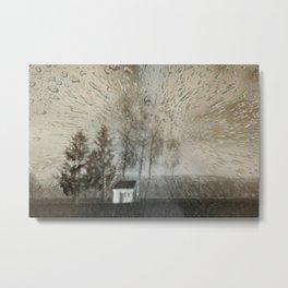 Concept landscape : Chapel in the rain Metal Print