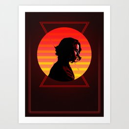 Black Widow 80's Character Poster Art Print