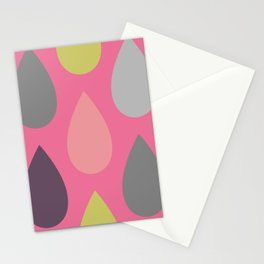 Pink Drops Stationery Cards