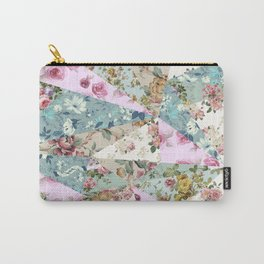 Floral Triangles Carry-All Pouch