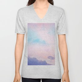 Unicorn Pastel Clouds #5 #decor #art #society6 Unisex V-Neck