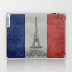 Flag of France with Eiffel Tower Laptop & iPad Skin