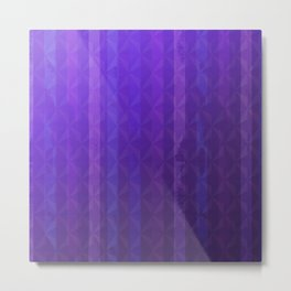 Royal Purple with Distressed Stripes Metal Print