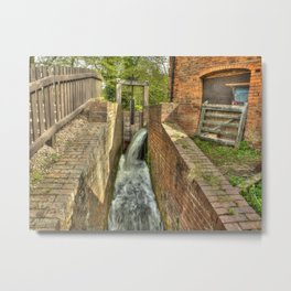 Sluice Gate at the Water mill Metal Print