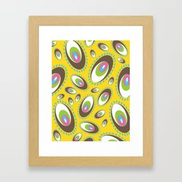 Ovoid Explosion Framed Art Print
