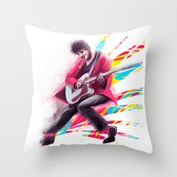 darren criss Throw Pillows featuring Listen Up Darren Criss by Ines92