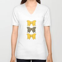 bows V-neck T-shirts featuring Sunshine Bows  by Ambers Illustration
