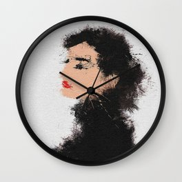 Audrey Hepburn Abstract Painting Wall Clock