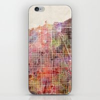 chicago map iPhone & iPod Skins featuring Chicago map by Map Map Maps
