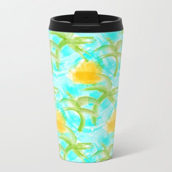 Tropical Abstract Metal Travel Mug