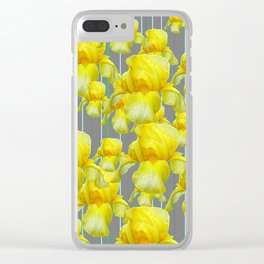 OODLES OF YELLOW IRIS GREY GARDEN ART Clear iPhone Case
