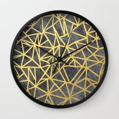 Ab Marb Gold Wall Clock