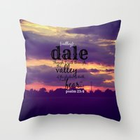 dale cooper Throw Pillows featuring Dale by KimberosePhotography