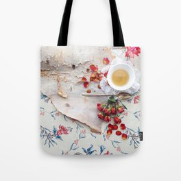 Tea with Roses Tote Bag
