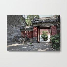 Beijing Doorway Metal Print