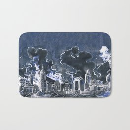 Cottbus Skyline by carographic, Carolyn Mielke Bath Mat