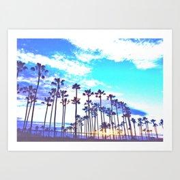 Vibrant Palms Art Print