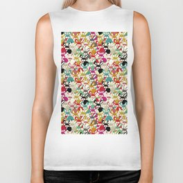 Colored  Easter bunny seamless pattern Biker Tank