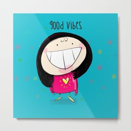 Good Vibes #happywoman Metal Print