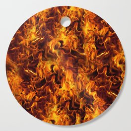 Fire and Flames Pattern Cutting Board