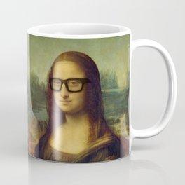 Hipster Mona Lisa in her Hipster Glasses Coffee Mug