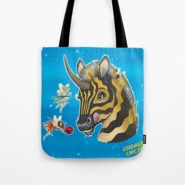 Goodnight Unicorn Zebra Tote Bag