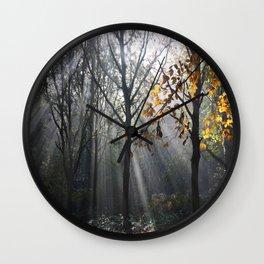 Autumn Sunbeams Wall Clock