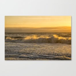 Sunrise Breaking on the Morning Surf Canvas Print