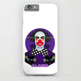 Clown - cat whisperer. iPhone Case