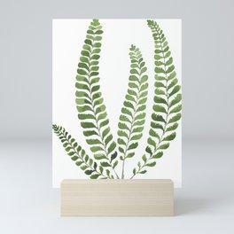 Watercolor fern Mini Art Print