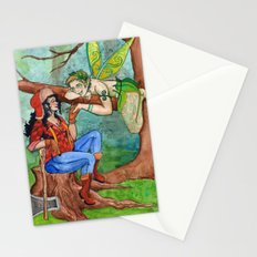 The Wood Nymph and the Lumberjack Stationery Cards