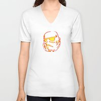 storm trooper V-neck T-shirts featuring Storm trooper  by luccabanana